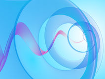 Abstract semitransparent background. Fantastic blue abstract background with helix Royalty Free Stock Photography