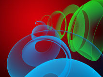 Abstract semitransparent background. Fantastic colorful abstract background with helix Royalty Free Stock Photos