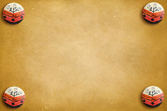 Abstract sepia background with circular elements in the corner Stock Photography