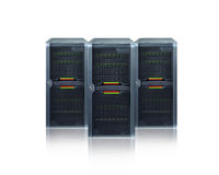 Abstract servers. Database devices , IT equipment Stock Photo