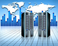 Abstract servers. Web hosting services , network infrastructure Stock Photography