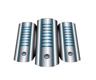Abstract servers. On white background Stock Images