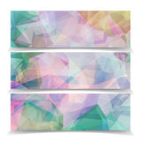 Abstract set banners with Modern Triangular Polygonal  pa Stock Photo
