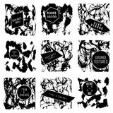Abstract set of blobs, splash, labels Royalty Free Stock Photos
