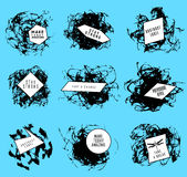 Abstract set of blobs, splash, labels Stock Photo