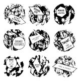 Abstract set of blobs, splash, labels Stock Photography
