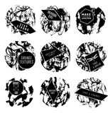 Abstract set of blobs, splash, labels Royalty Free Stock Images