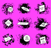 Abstract set of blobs, splash, labels. On background Royalty Free Stock Photos