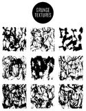Abstract set of blobs, splash, labels. On background royalty free illustration