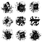 Abstract set of blobs, splash, labels Royalty Free Stock Image