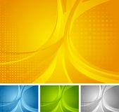 Abstract set of bright wavy backgrounds. Vector template design stock illustration