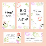 Abstract set of brochures and business cards. Stylized for hand drawn. Modern concept for your business Royalty Free Stock Photos