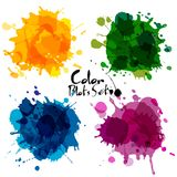 Abstract set of color blots. Vector background Royalty Free Stock Images