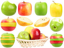 Abstract set of fresh strange fruits Royalty Free Stock Photo