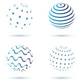 Abstract set of globe icons Stock Photo