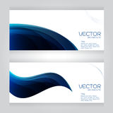 Abstract set header blue wave whit vector design on gray background Royalty Free Stock Images