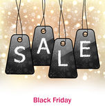Abstract Set Labels for Black Friday Sales Royalty Free Stock Photo