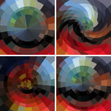 Abstract  set mosaic backgrounds Royalty Free Stock Photography