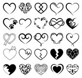 Abstract set of symbol heart Royalty Free Stock Photos