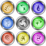 Abstract set. Vector internet buttons. Royalty Free Stock Image