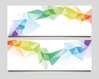 Abstract set wave triangle background Royalty Free Stock Photography
