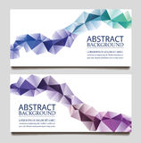 Abstract set wave triangle background Stock Photography