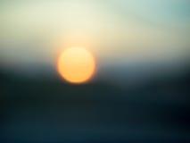 Setting Sun in Bokeh Abstract Stock Photo