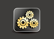 Abstract settings icon Stock Photography
