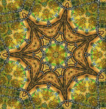Abstract seven-final star with patterns. Royalty Free Stock Photography