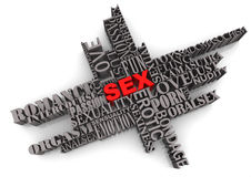 Abstract sex sign Stock Photo