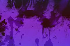 Nice old purple randomly painted canvas, fabric with color paint spots and blots texture for any purposes. Abstract shabby purple randomly painted canvas, fabric stock illustration