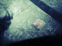Abstract shadow and shape pattern on ground Royalty Free Stock Photo