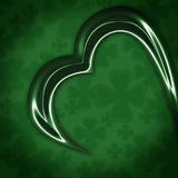 Abstract Shamrock. Highly detailed abstract shamrock leaf on multi-clover background. Glass texture royalty free illustration