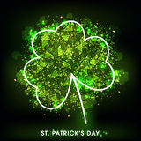 Abstract Shamrock Leaf for St. Patrick's Day. Royalty Free Stock Photography