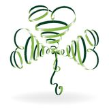 Abstract shamrock with ribbon Royalty Free Stock Photography
