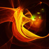 Abstract shape. Beautiful abstract fiery red fractal Royalty Free Stock Photos