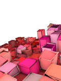 Abstract shape backdrop in pink red Royalty Free Stock Images