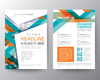 Abstract shape background for Poster Brochure Flyer design Layout Royalty Free Stock Photo