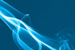 Abstract shape of Blue smoke waves Royalty Free Stock Photo