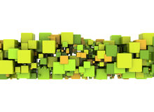 Abstract shape and color cubes. Abstract background multi colored cubes stock illustration