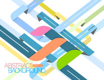 Abstract shape colors style vector Royalty Free Stock Photography