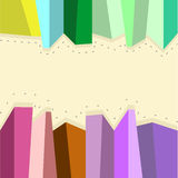 Abstract shape cubes. In different colors space for text Royalty Free Stock Photography