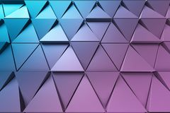 Abstract background of polygonal shape. Abstract shape 3D holographic background of triangles Royalty Free Stock Photography