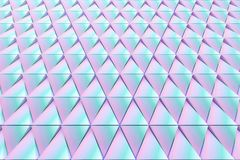 Abstract background of polygonal shape. Abstract shape 3D holographic background of triangles Royalty Free Stock Photo