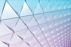 Abstract background of polygonal shape. Abstract shape 3D holographic background of triangles Stock Photos