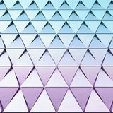 Abstract background of polygonal shape. Abstract shape 3D holographic background of triangles Stock Images