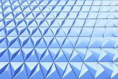 Abstract background of polygonal shape. Abstract shape 3D holographic background of triangles Stock Image