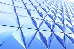 Abstract background of polygonal shape. Abstract shape 3D holographic background of triangles Stock Photography