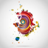 Abstract Shape of Dots. Target like abstract shape filled with colorful dots Stock Image