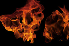 Abstract shape of fire flames on black III Stock Images
